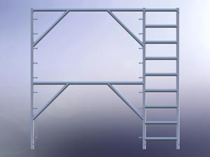 Apartment Scaffolding Frame with 18' Ladder